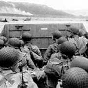 Approaching Omaha Beach - Invasion of Normandy - June 6, 1944 Art Print