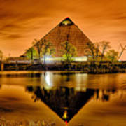 April 2015 - The Pyramid Sports Arena In Memphis Tennessee Art Print
