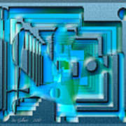 Aqua Blue Art Print