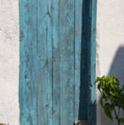 Aqua Door Textures Art Print