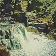 Aqua Falls Art Print
