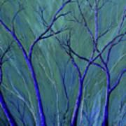 Aqua Forest Art Print