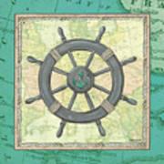 Aqua Maritime Art Print
