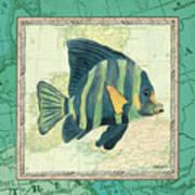 Aqua Maritime Fish Art Print