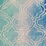 Aqua Moroccan Art Print