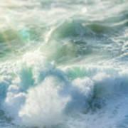 Aqua Surge Art Print
