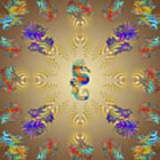 Aquarium Glow Umber Art Print
