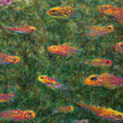 Aquarium Art Print by James W Johnson