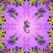 Aquarium Rising Lavender Art Print