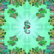 Aquarium Rising Mint Art Print