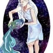 Aquarius Water Bearer Art Print