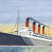 Aquitania-calm Sea And Prosperous Voyage Art Print