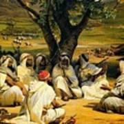 Arab Chieftains In Council  Art Print