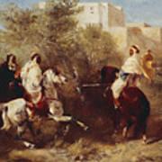 Arab Horsemen Art Print by Eugene Fromentin