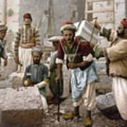 Arab Stonemasons, C1900 - To License For Professional Use Visit Granger.com Art Print