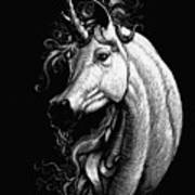Arabian Unicorn Art Print