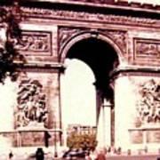 Arc De Triomphe 1955 Art Print