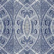 Arc De Triomphe Du Carrosel Paris Kaleidoscope Vertical Art Print