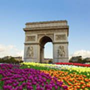 Arc De Triomphe In Paris Art Print