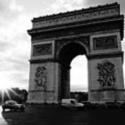 Arc De Triomphe Sunset Paris, France Art Print
