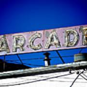 Arcade Vintage Sign Art Print