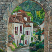 Arch Of Saint-cirq-lapopie Art Print