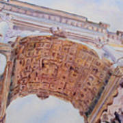 Arch Of Titus One Art Print by Jenny Armitage