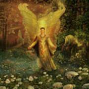 Archangel Azrael Art Print by Steve Roberts
