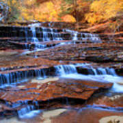 Archangel Falls In Zion National Park Art Print by Pierre Leclerc Photography