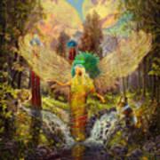 Archangel Haniel Print by Steve Roberts