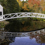 Arched Bridge-somesville Maine Art Print by Thomas Schoeller