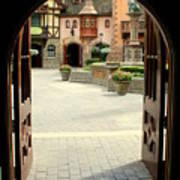 Arched Doorway With A Bavarian View Art Print
