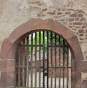 Arched Gate At Heidelberg Castle Art Print
