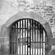 Arched Gate B W Art Print