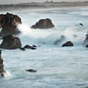 Arched Rock Wave Break Art Print