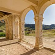 Arches And Stairs Of Derelict Agios Georgios Church Art Print