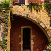Architectural Details In Chania Art Print