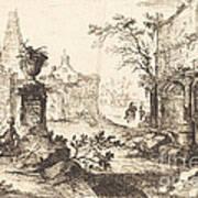 Architectural Fantasy With Roman Ruins Art Print