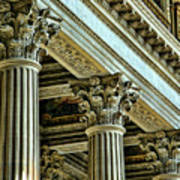 Architecture Columns Palace King Louis Xiv Versailles  Art Print