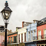 Architecture Of The French Quarter In New Orleans Art Print