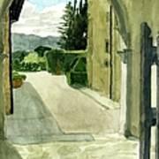 Archway Villa Mandri Art Print