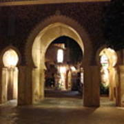 Archways At Night Art Print