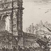 Arco Di Trajoano In Ancona Art Print
