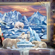 Arctic Bears Coming Art Print