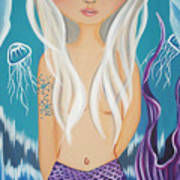 Arctic Mermaid Art Print