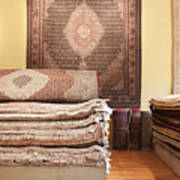 Area Rugs In A Store Print by Jetta Productions, Inc