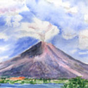 Arenal Volcano Costa Rica Art Print by Arline Wagner
