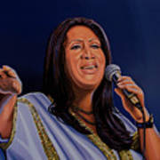 Aretha Franklin Painting Art Print