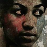 Aretha Franklin - Tribute Art Print