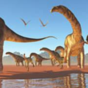 Argentinosaurus Herd Art Print